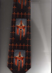 CROSSES WITH RED CLOTH