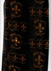 WHO DAT NATION  SCARF  BLACK