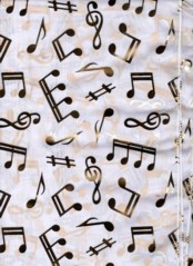 MUSIC NOTE SCARVES WHITE