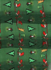 Christmas Decorations Scarves Green