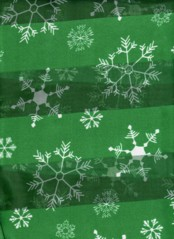 SNOWFLAKE  SCARF  GREEN