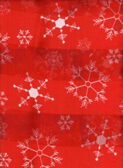 SNOWFLAKE  SCARF   RED