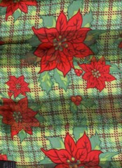 Poinsettas Scarves Green