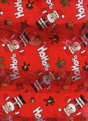 Santa Ho Ho Ho Scarves Red