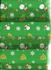 SNOWMAN AND XMAS TREE SCARF  GREEN